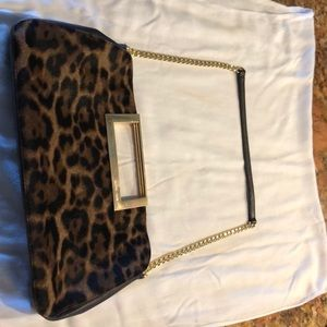 Michael Kors clutch with goldchain strap